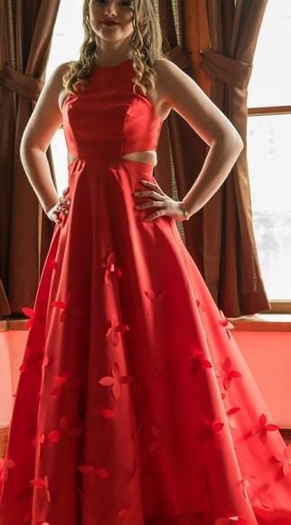 Jcpenney Dresses Red Prom Dress Poshmark